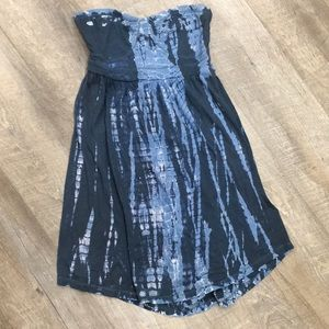 Roxy strapless blue shorty dress